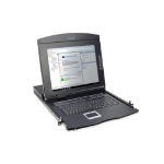 """Digitus Modular console with 17"""" TFT (43,2cm), 8-port KVM & Touchpad, US keyboard"""