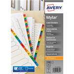 Avery Mylar 1-50 Reinforced Printable Dividers A4 05226061