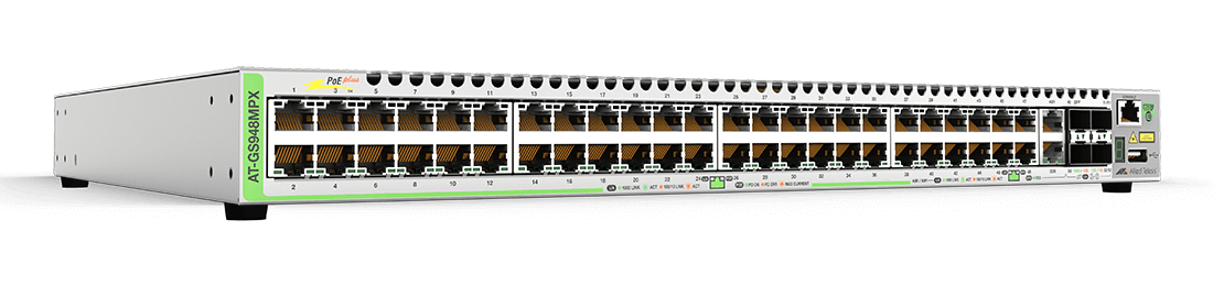 Allied Telesis AT-GS948MPX-30 Managed L3 Gigabit Ethernet (10/100/1000) Power over Ethernet (PoE) Grey network switch