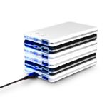 Urban Factory Power Bank Stackable 2x 6000mAh (1x black & 1x white) Micro-USB input & 2 xUSB output