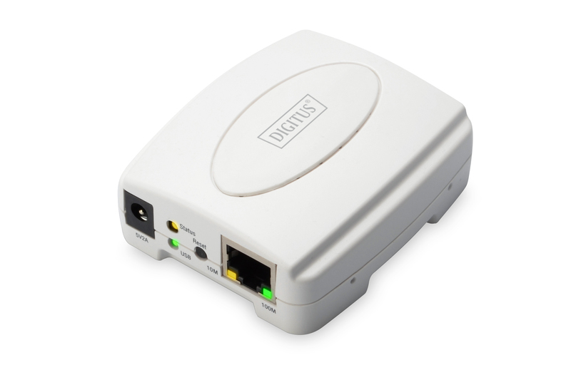 Digitus DN-13003-2 print server White Ethernet LAN