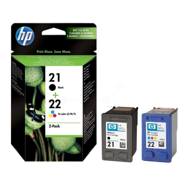 HP SD367AE (21+22) Printhead multi pack, 360 pages, 190pg + 165 pg, Pack qty 2