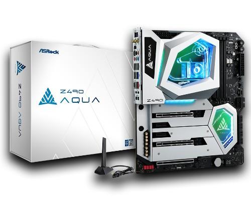 Asrock Z490 AQUA motherboard Intel W480 LGA 1200 ATX