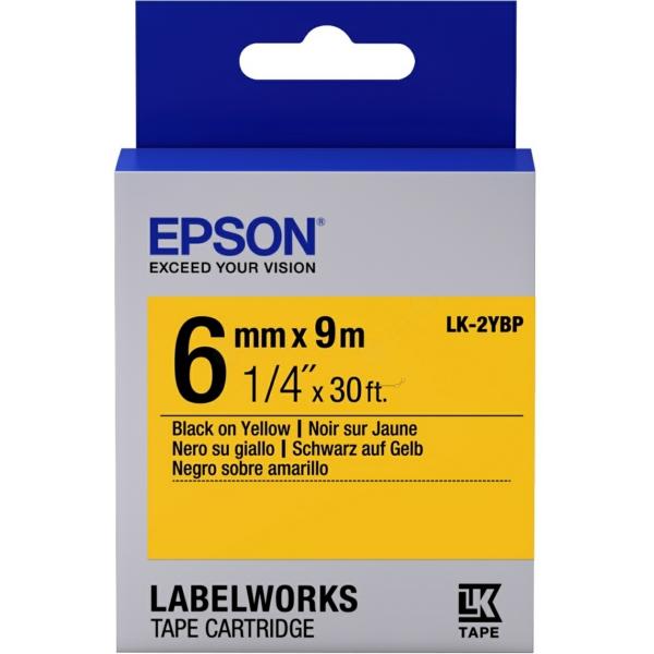 Epson C53S652002 (LK-2YBP) DirectLabel-etikettes, 6mm x 9m