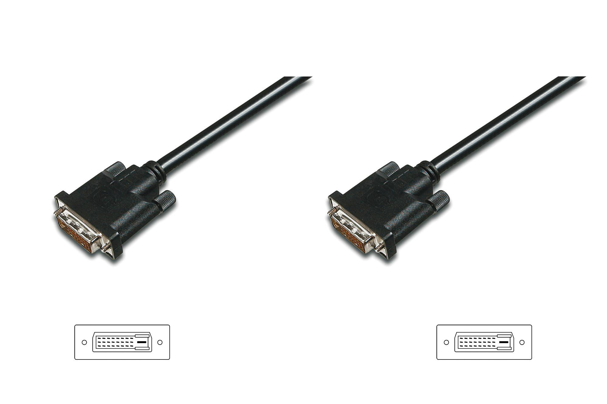 ASSMANN Electronic AK-320108-005-S DVI cable 0.5 m DVI-D Black