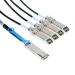 Mellanox Technologies QSFP / 4 SFP+, 1m cable infiniBanc 4 x SFP+ Negro