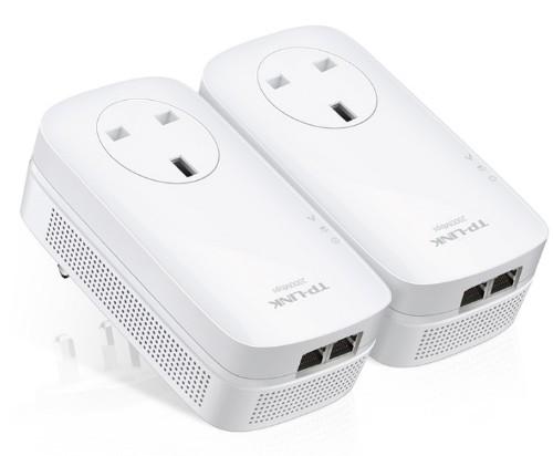 TP-LINK AV2000 2-Port Gigabit Passthrough Powerline Starter Kit