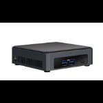 Intel NUC BLKNUC7I5DNK4E PC/workstation barebone i5-7300U 2.60 GHz Black BGA 1356