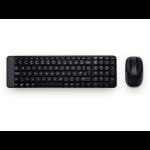 Logitech MK220, POR keyboard RF Wireless Portuguese Black