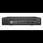 HP EliteDesk 800 35W G2 DDR4-SDRAM i7-6700T mini PC 6th gen Intel® Core™ i7 8 GB 128 GB SSD Windows 7 Professional Black