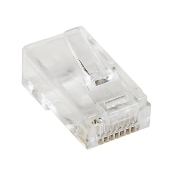 StarTech.com Paquete de 50 Unidades de Conectores RJ45 Cat5e Modulares Multifilares Stranded Trenzados
