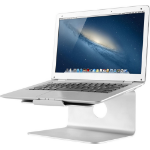 Newstar Raised and Rotatable Aluminium Laptop Stand - Stand for notebook - brushed aluminium - silver - scre