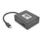 Tripp Lite 2-Port Mini DisplayPort to DisplayPort Multi-Monitor Splitter, MST Hub, 4K 60Hz UHD, DP1.2, TAA