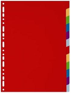 Exacompta 4912E divider Multicolour