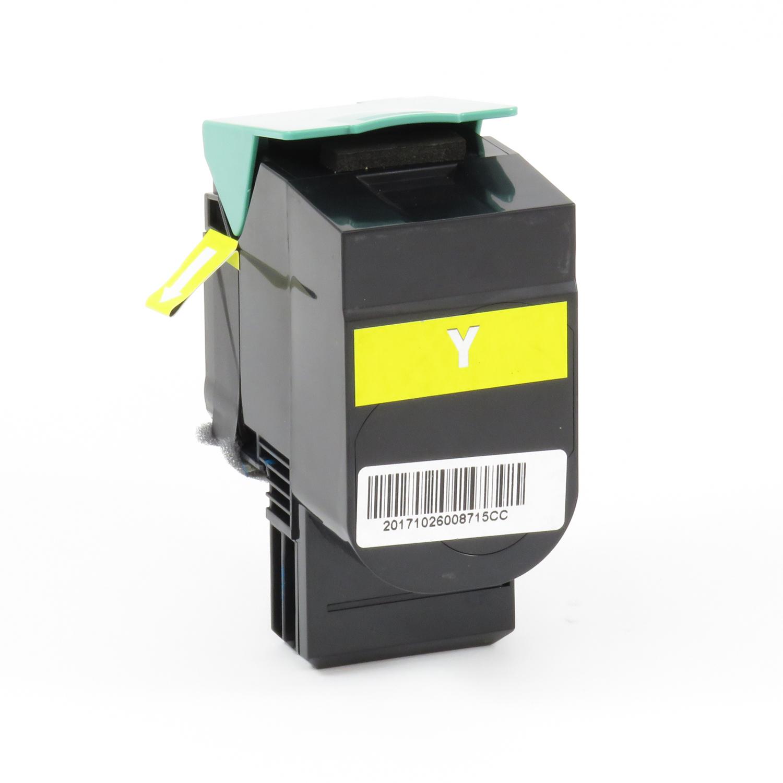 Remanufactured Lexmark 70C0X40 Yellow Toner Cartridge