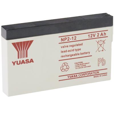 Yuasa NP2-12 Sealed Lead Acid (VRLA) 2000mAh 12V rechargeable battery