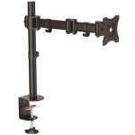 StarTech.com Desk Mount Monitor Arm for up to 34 inch VESA Compatible Displays - Articulating Pole Mount Single Monitor Arm - Ergonomic Height Adjustable Monitor Mount - Desk Clamp/Grommet
