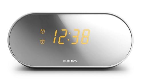 Philips AJ2000 Clock Radio with Mirror Finish Display