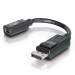 C2G 0.15m DisplayPort Male / Mini DisplayPort F DisplayPort M Negro