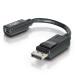 C2G 0.15m DisplayPort Male / Mini DisplayPort F DisplayPort M Negro