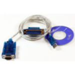 Microconnect USBADB25 serial cable Transparent 1.8 m USB DB9