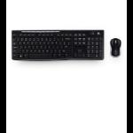 Logitech MK270 keyboard USB QWERTZ Czech Black