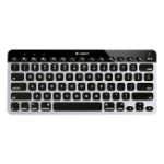 Logitech Easy Switch Bluetooth Black, Silver mobile device keyboard