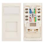 Cablenet Cat6 UTP Low Profile Module 25mm x 50mm White