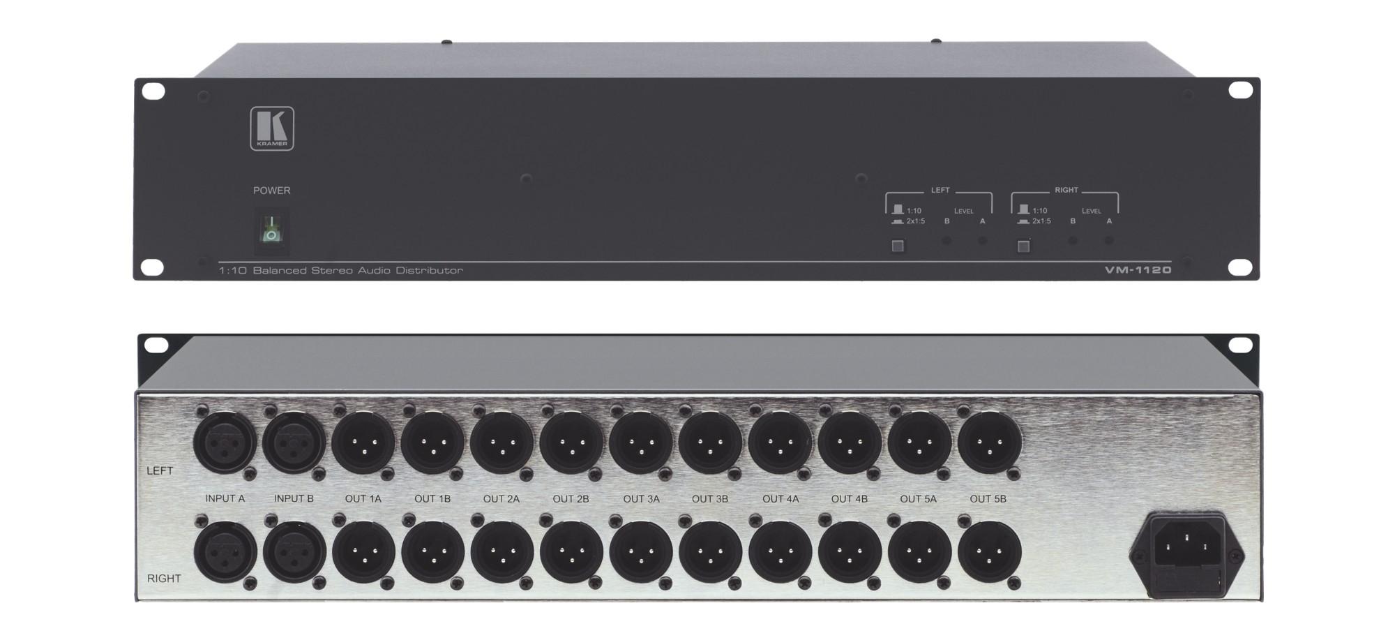Kramer Electronics VM-1120 Wired Grey audio amplifier