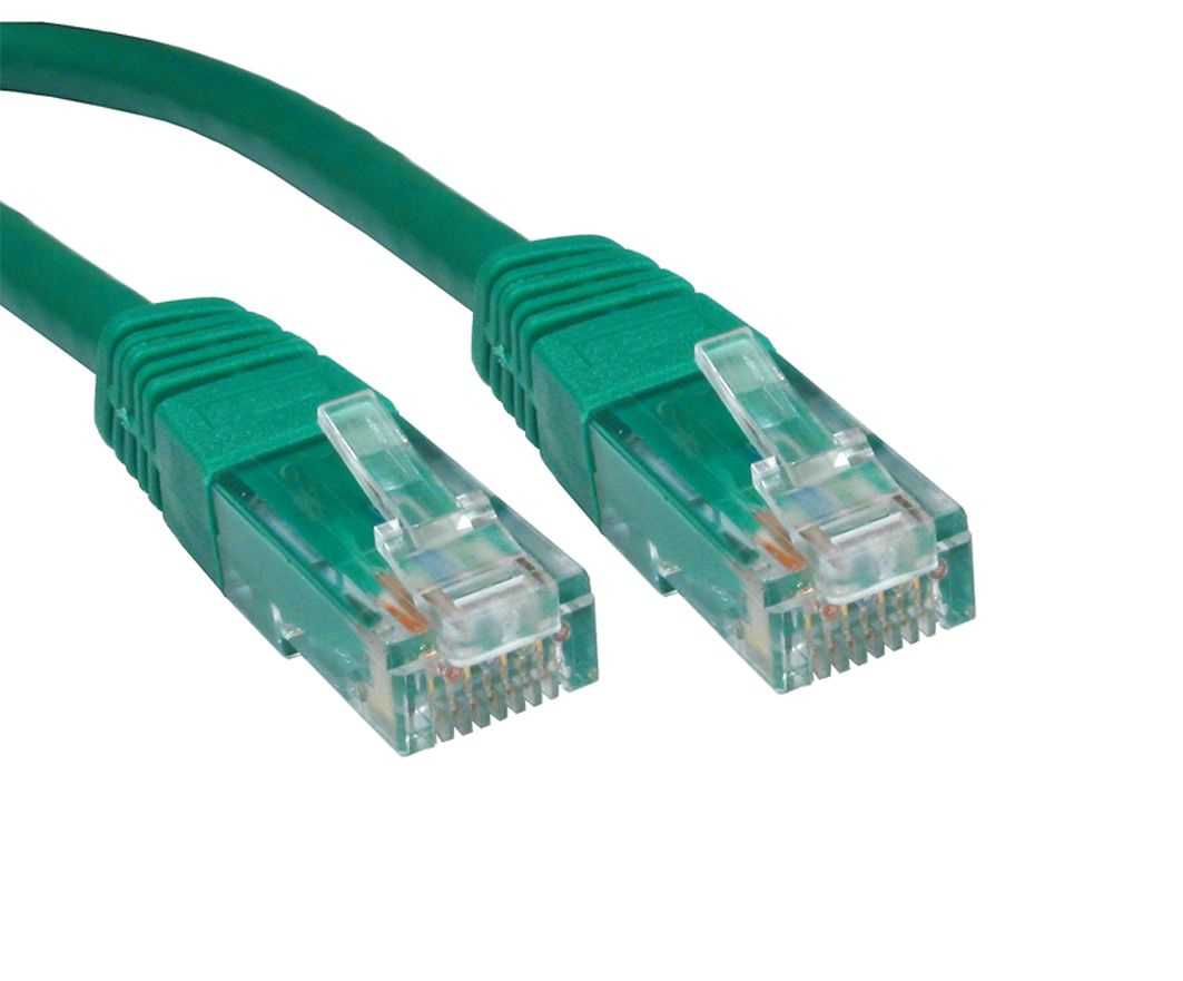 Cables Direct 10m Cat6 10m Cat6 U/UTP (UTP) Green networking cable ...