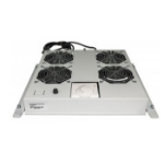"Intellinet 4-Fan Ventilation Unit for 19"" Racks, Roof Mount, with Thermostat, Grey"