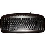Ergoguys Left Handed Ergonomic keyboard USB QWERTY Black