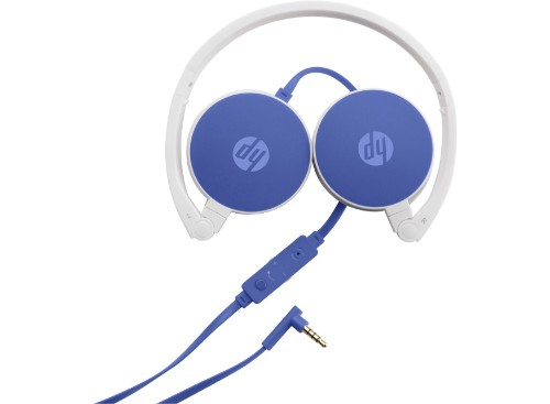 HP H2800 headset Binaural Head-band Blue