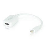 C2G 0.2m Mini DisplayPort M / HDMI F Mini DisplayPort M HDMI F White cable interface/gender adapter