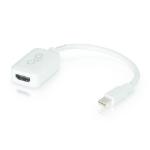 C2G 0.2m Mini DisplayPort M / HDMI F White
