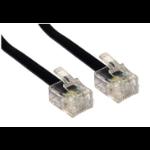Cables Direct RJ-11, 2m Black