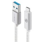 ALOGIC 1m USB 3.1 USB-C to USB-A with Reversible Connector -Male to Male - Silver