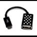 Belkin Micro-USB - USB A M/F cable USB 2.0 Micro-USB A Negro