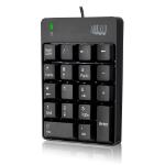 Adesso AKB-601UB - USB Spill Resistant 18-Key Numeric Keypad