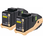 Epson C13S050606 (0602) Toner yellow, 7.5K pages, Pack qty 2