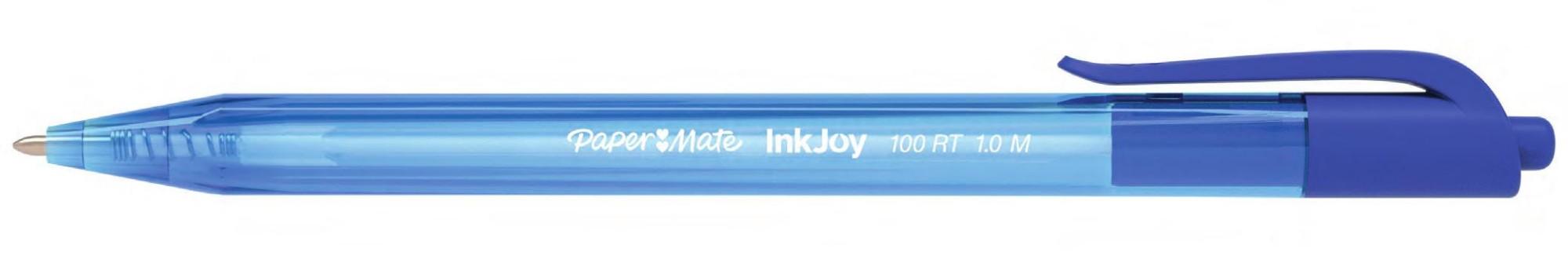 Papermate InkJoy 100 RT Clip-on retractable ballpoint pen Medium Blue 20pc(s)