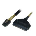 Lindy Internal SATA & SAS Cable 1m SATA Black SATA cable