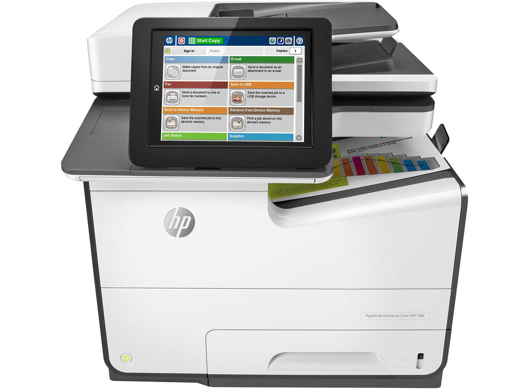 HP PageWide Enterprise Color MFP 586f Thermal Inkjet A4 Grey