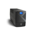 V7 UPS 600VA Desktop UPS with 6 Outlets, Touch LCD (UPS1P600E)