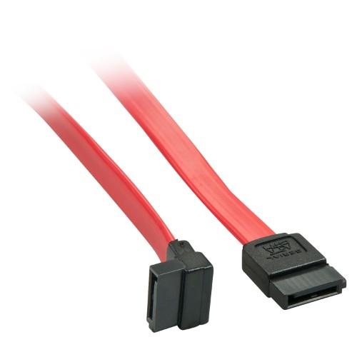 Lindy 33351 SATA cable 0.5 m SATA 7-pin Black,Red