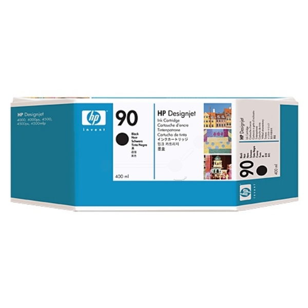 HP Ink Cartridge No 90 black 400ml - C5058A