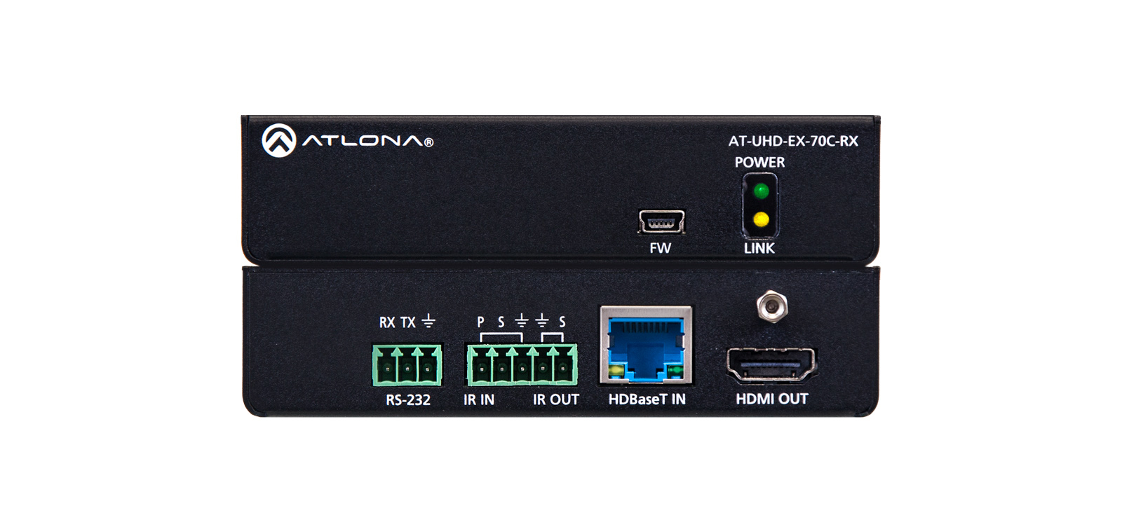 4k/uhd Hdmi Over Hdbaset Receiver With Control And Poe