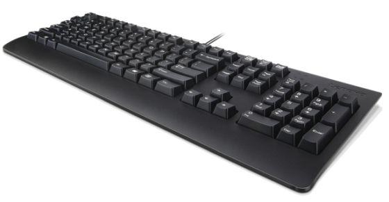 Lenovo 4X30M86918 teclado USB QWERTY Inglés de EE. UU. Negro