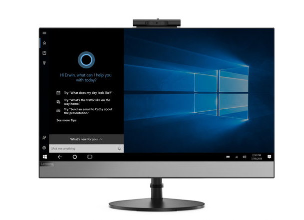 "Lenovo V530 60,5 cm (23.8"") 1920 x 1080 Pixels 9th gen Intel® Core™ i5 i5-9400T 8 GB DDR4-SDRAM 256 GB SSD Zwart Alles-in-één-pc"