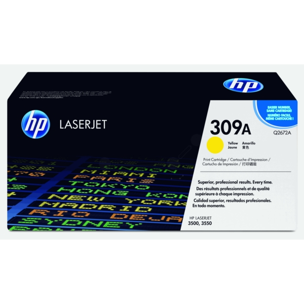 HP Q2672A (309A) Toner yellow, 4K pages @ 5% coverage